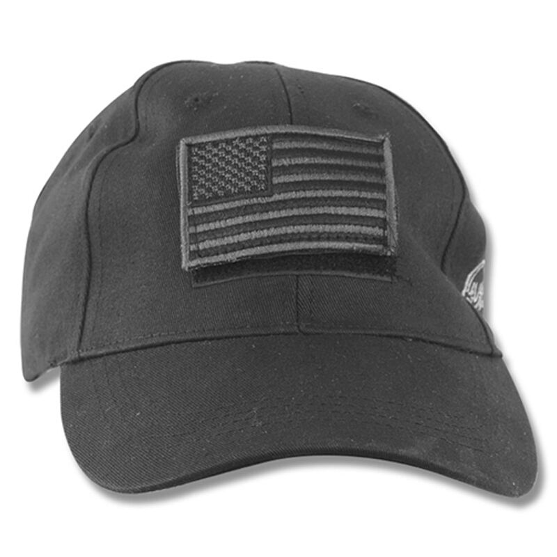 Voodoo Tactical Cap Poplin Embroidered Logo and Flag Adjustable One Size Black Multicam 20-9353072000