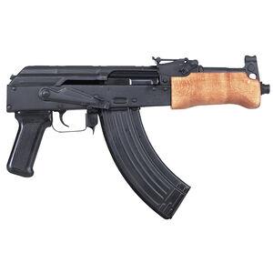 "Century Arms Mini Draco Pistol Semi Automatic Handgun 7.62x39mm 7.75"" Barrel Black 30 Rounds Wood Fore Grip Natural HG2137-N"