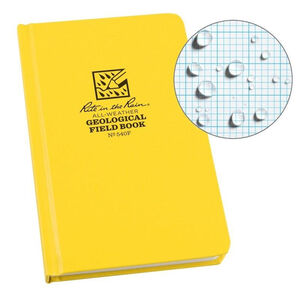 """Rite in the Rain All-Weather Geological Hard Cover Field Book 4.75"""" 7.5"""" Fabrikoid Yellow"""
