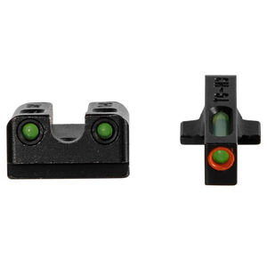 TRUGLO TFX Pro Night Sights Fits SIG P365 Green Tritium with Orange Outline Front Black Finish
