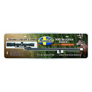 """Mossberg 535 12 Gauge 24"""" Rifled Barrel Blued and Bushnell Banner 3-9x32mm Shotgun Scope Combo"""