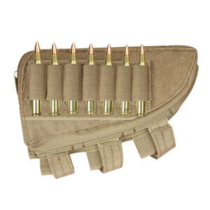 Fox Outdoor Rifle Butt Stock Cheek Rest Right Hand Coyote Tan 55-488