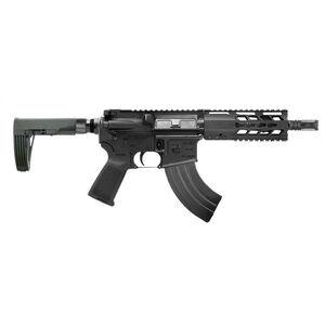 "Diamondback Firearms DB15 AR-15 7.62x39 Semi Auto Pistol 7"" Barrel 30 Rounds Free Float Hand Guard Tailhook Mod 2 Pistol Stabilizing Brace Matte Black"