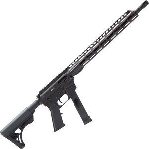"Freedom Ordnance FX-9 Carbine 9mm Luger AR Style Semi Auto Rifle 16"" Barrel 33 Rounds Uses GLOCK Style Mags 13"" Freefloat M-LOK Handguard Collapsible Stock Black"