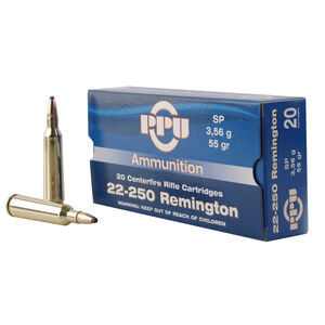 Prvi Partizan .22-250 Remington Ammunition 20 Rounds SP 55 Grains
