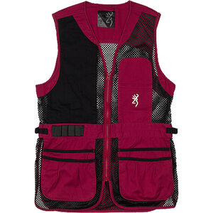 Browning Ace Shooting Vest Women's Black/Cassis Right Hand Large