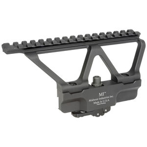 Midwest Industries AK Gen2 Scope Side Mount Picatinny Top Rail Elite Defense Quick Detach Lock System 6061 Aluminum Hard Coat Anodized Matte Black