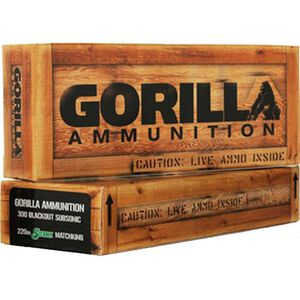 Gorilla .300 AAC Blackout 220 Grain BTHP SS 20 Round Box