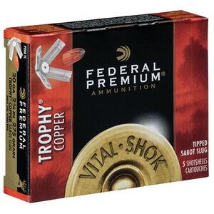 "Federal Vital-Shok Trophy Copper 20 Gauge Ammunition 5 Rounds 2.75"" Sabot Slug 5/8 Ounce P208TC"