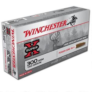 Winchester Power Core .300 WSM Ammunition 200 Rounds Lead Free HP 150 Grains X300WSMLF