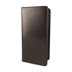 "Boston Leather 5880 Double Citation Holder Slide Style 5.5""x10"" Leather Plain Black 5880-1"
