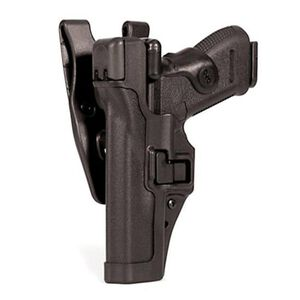 BLACKHAWK! SERPA Level 3 Duty Belt Holster Fits GLOCK 17/19 Left Hand Polymer Matte Black