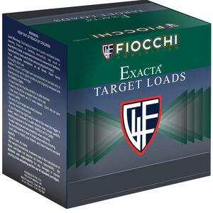 "Fiocchi Exacta Target Line White Rino 12 Gauge Ammunition 2-3/4"" #8 Shot 1-1/8oz Lead 1250fps"