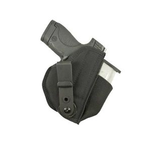 DeSantis Tuck-This II Beretta Nano/S&W M&P Shield/GLOCK 26/27 with Laser Inside the Waistband Holster Ambidextrous Nylon Black M24BJU4Z0