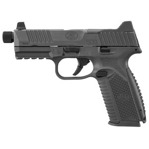 """FNH FN-509 Tactical 9mm Luger Semi Auto Pistol 4.5"""" Threaded Barrel 10 Rounds Ambidextrous Controls Night Sights Polymer Frame Matte Black Finish"""