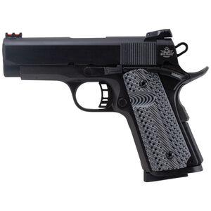 "Rock Island Armory 1911 Tactical II Compact Semi Auto Handgun .45 ACP 3.5"" Barrel 7 Rounds Checkered Black G-10 Grips Fiber Optic Front Sight Adjustable Rear Sight Steel Parkerized 51479"