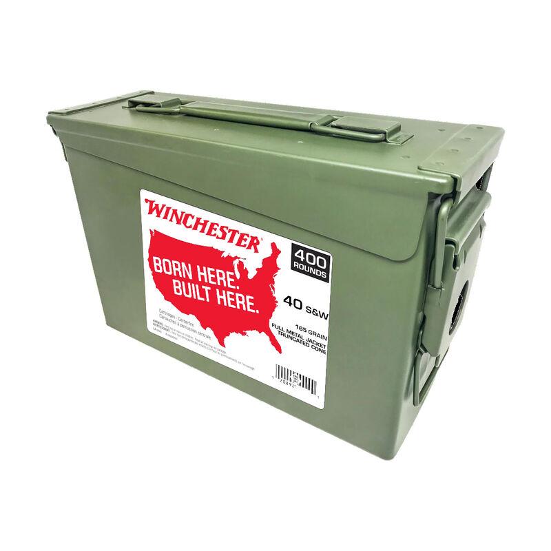 Winchester .40 S&W Ammunition 400 Rounds FMJ-TC 165 Grains