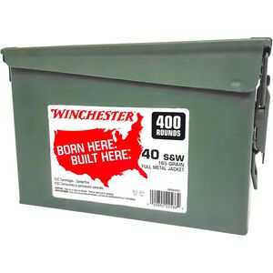 Winchester .40 S&W Ammunition 800 Rounds FMJ-TC 165 Grains