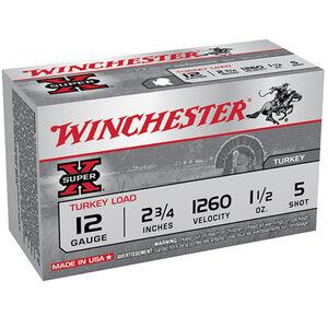 "Winchester, Super X 12 Gauge Ammunition 10 Rounds, 1.50 Ounce, #5 Lead, 2.75"""