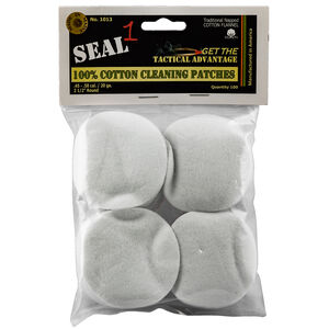Seal 1 Cotton Cleaning Patches .45-.58 Caliber/20 Gauge 100 Count