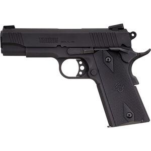 "Taurus 1911 Commander 9mm Luger Semi Auto Pistol 4.25"" Barrel 9 Rounds Novak Style Sights Steel Frame Synthetic Grips Matte Black Finish"