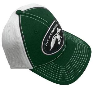 Duck Commander Logo Hat Flex Fit 10 Pack Green/White DHGWM