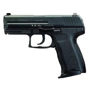 "HK P2000 Compact Semi Auto Handgun 9mm Luger 3.66"" Barrel 13 Round Polymer Frame Black Decocker"