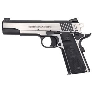 "Colt 1911 Combat Elite Government Model Semi Auto Pistol .45 ACP 5"" Barrel 8 Rounds Ambi Safety Night Sights G10 Grips Two Tone Finish"