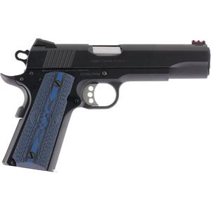 "Colt Competition 1911 Series 70 Government Model Semi Auto Pistol .45 ACP 5"" Barrel 8 Rounds Fiber Front Sight Novak Rear Sight G10 Grips Blued Finish"