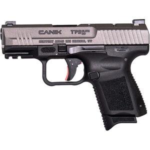 "Century Arms Canik TP9 Elite SC 9mm Luger Subcompact Semi Auto Handgun 3.6"" Barrel 12 Rounds Optics Ready Slide Polymer Frame Tungsten/Black Finish"