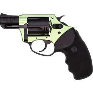 """Charter Arms Shamrock .38 Special Revolver 2"""" Barrel 5 Rounds Aluminum Frame Rubber Grip Two Tone Green/Black Finish"""