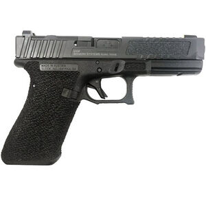 "Shadow Systems SG9F 9mm Luger Semi-Auto Handgun 4.5"" Black Barrel No Magazine Stippled Frame Optics Ready with LFT Hybrid Grip Slide Black"
