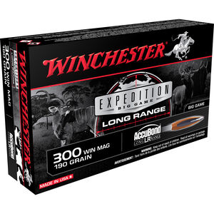 Winchester Expedition Big Game .300 Win Mag Ammunition 200 Rounds 190 Grain Accubond Long Range 2900fps