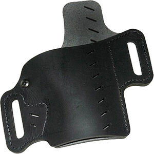 VersaCarry Recruit Holster Size 2 Most 1911 Style and Micro Pistols OWB Belt Slide Holster with Forward Cant and Raised Back Right Handed Leather Black