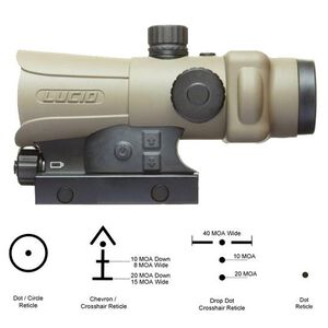 Lucid LLC HD7 Gen III Red Dot Sight 2MOA Dot Four Reticles Mount Included Aluminum Frame Flat Dark Earth Tan L-HD7-TAN