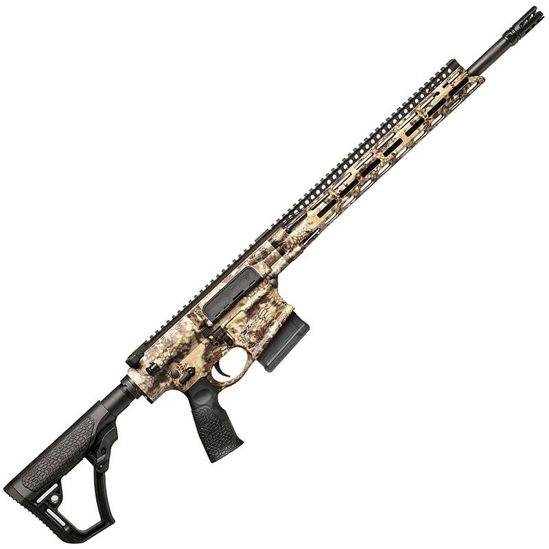 "Daniel Defense DD5v4 Hunter 6.5 Creedmoor AR Style Semi Auto Rifle 18"" Barrel 5 Rounds 15"" M-LOK Handguard Collapsible Stock Kryptek Highlander Camo Finish"