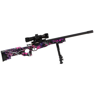 "Keystone Arms Crickett Precision Rifle Package .22 Long Rifle Single Shot Bolt Action Rimfire Rifle 16.125"" Barrel Bipod/Scope/Adjustable Synthetic Thumbhole Stock Muddy Girl"
