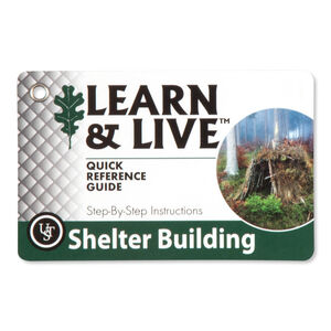 Ultimate Survival Technologies Learn & Live Shelter Building Card Set 20-80-1045