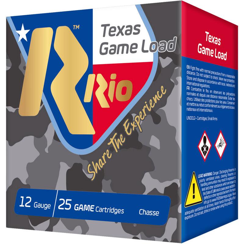 "RIO Ammunition Texas Game Load HV 12 Gauge Ammunition 2-3/4"" Shell #8 Lead Shot 1-1/4oz 1330fps"