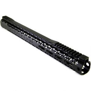"Black Rain Ordnance AR-15 Slim Free Float Handguard 17.76"" M-LOK Aluminum Black BRO-SLM-1776"