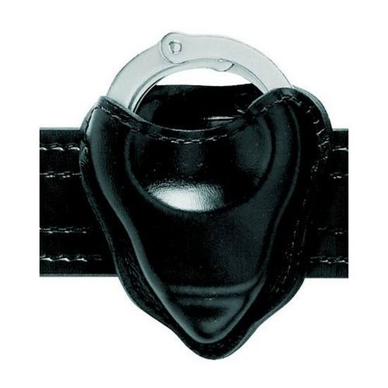 Safariland Model 090H Handcuff Pouch Open Top Formed Hinged Cuff Only Basket Weave Black 090H-18