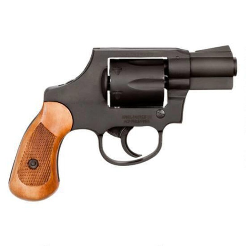 """Rock Island Armory M206 Spurless Double Action Revolver .38 Special 2"""" Barrel 6 Rounds Fixed Sights Steel Frame Parkerized Finish Wood Grips"""