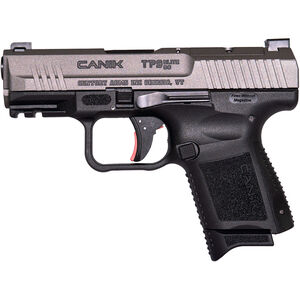 "Century Arms Canik TP9 Elite SC 9mm Luger Subcompact Semi Auto Handgun 3.6"" Barrel 12 Rounds Optics Ready Slide Polymer Frame Tungsten/Black Finish"