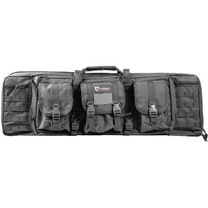"""Drago Gear 36"""" Double Gun Case Tactical Soft Case 600 Denier Nylon MOLLE Panels SEAL Gray"""