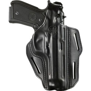 Beretta Mod.05 for 92/96 Series OWB Belt Slide Holster with Thumb Break Right Hand Leather Black