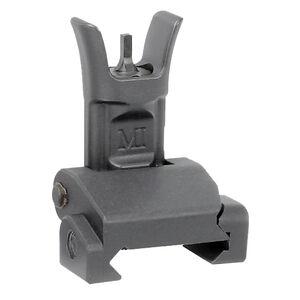 Midwest Industries AR-15 Combat Rifle Flip Up Front Sight Standard A2 Front Sight Post 6061 Aluminum Base Matte Black Finish