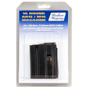 Windham Weaponry AR-15 Magazine .223 Remington/5.56 NATO 10 Rounds 6061 T6 Aluminum Box Teflon Coated Black