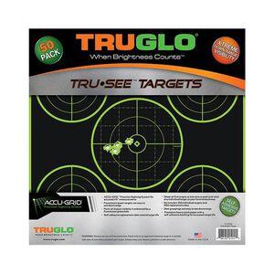TRUGLO Tru-See Splatter Target 5-Bullseye, 12x12, Green 50 Pack TG11A50