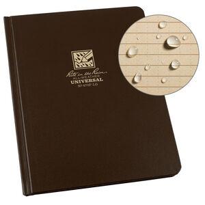 "Rite in the Rain Hard Cover Notebook 6.75"" x 8.75"" Waterproof Brown"