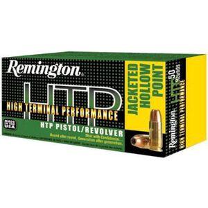 Remington .38 Special +P HTP Ammunition 50 Rounds, SJHP, 110 Grains